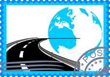 штемпель дороги почтоваи оплата Стоковая Фотография