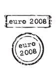 штемпель евро 2008 иллюстрация вектора