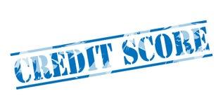 Штемпель кредитного рейтинга голубой иллюстрация вектора