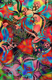 штемпель мозаики Стоковое фото RF