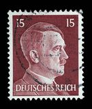 Штемпель напечатанный в изображении выставок Германии Адольфа Гитлера стоковое изображение
