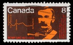 Штемпель напечатанный Канадой, комиссаром G выставок A французско стоковая фотография