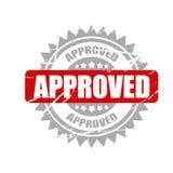 Штемпель одобренный вектором информативная предпосылка иллюстрации, рекламы и маркетинга иллюстрация вектора