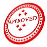 Штемпель одобренный красным цветом Стоковые Фото