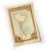 штемпель почтоваи оплата Аргентины Стоковые Фотографии RF