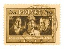 Штемпель почтоваи оплата год сбора винограда польский стоковое изображение rf