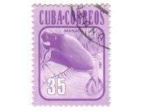 штемпель почтоваи оплата Кубы старый Стоковая Фотография