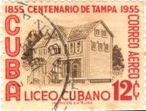 штемпель почтоваи оплата Кубы Стоковые Изображения