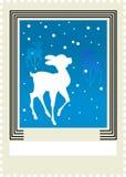 штемпель почтоваи оплата оленей рождества бесплатная иллюстрация