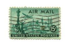 штемпель почтоваи оплата США 15 центов старый Стоковое Изображение RF