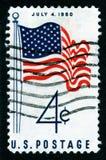 Штемпель почтоваи оплата США 4-ое июля Стоковая Фотография