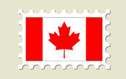 штемпель почтоваи оплата флага Канады Стоковое фото RF