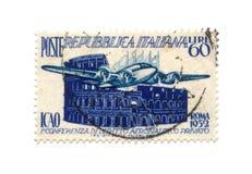штемпель почтоваи оплата 1952 dated Италия Стоковое Изображение RF