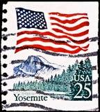 штемпель почтоваи оплата yosemite национального парка Стоковое Фото