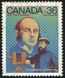 штемпель почтового сбора напечатанный Канадой стоковые фото