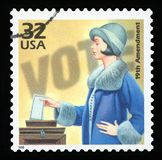Штемпель почтового сбора США стоковая фотография rf
