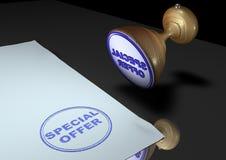 штемпель предложения специальный Стоковое Изображение RF