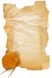 штемпель предпосылки старый бумажный Стоковое Изображение