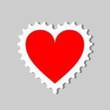 штемпель сердца Стоковая Фотография