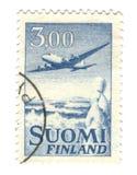 штемпель Финляндии старый Стоковые Изображения