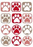 Штемпель цвета следа ноги - собака и кошка бесплатная иллюстрация
