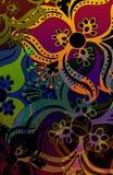 штемпель цвета этнический Стоковые Фотографии RF
