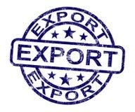 Штемпель экспорта показывая гловальное распределение бесплатная иллюстрация
