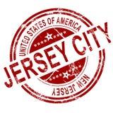 Штемпель Jersey City с белой предпосылкой Стоковое Изображение