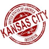 Штемпель Kansas City Миссури с белой предпосылкой Стоковая Фотография RF