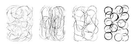 Штемпеля вектора излишка бюджетных средств Круги, геометрические абстрактные формы Стоковое фото RF