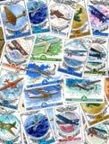 штемпеля почтоваи оплата авиации Стоковые Изображения