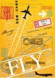 Штемпеля почтоваи оплата воздушной почты Стоковое фото RF
