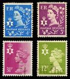 штемпеля почтоваи оплата Ирландии северные Стоковое Изображение RF