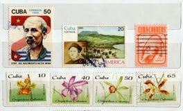 штемпеля почтоваи оплата Кубы Стоковая Фотография RF