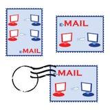 штемпеля почты e иллюстрация вектора