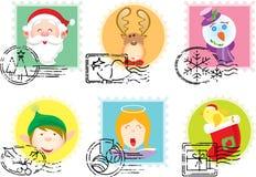 штемпеля собрания рождества Стоковая Фотография