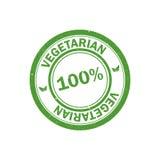 штемпель 100% вегетарианский Логотип Vegan зацепляет икону Стоковое фото RF