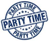 штемпель голубого grunge времени партии круглый винтажный Стоковое Изображение