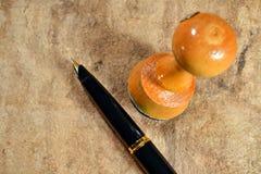 Штемпель и ручка стоковое фото rf
