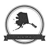 Штемпель карты вектора Аляски иллюстрация штока