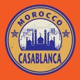 Штемпель Касабланка, Марокко Стоковые Изображения RF