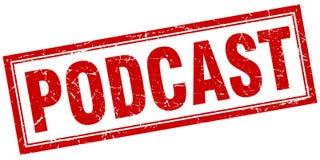Штемпель квадрата Podcast Стоковая Фотография