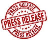 Штемпель красного grunge официального сообщения для печати круглый винтажный бесплатная иллюстрация