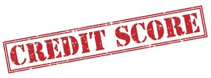 Штемпель кредитного рейтинга красный иллюстрация штока