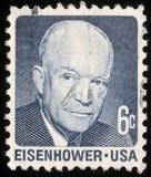 Штемпель напечатанный в США показывает Дуайт Дэвид Eisenhower Стоковое Изображение RF
