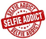 Штемпель наркомана Selfie красный иллюстрация штока