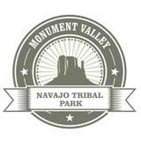 Штемпель долины памятника - парк Навахо племенной Стоковое фото RF