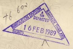 Штемпель пасспорта Таиланда Стоковое Фото