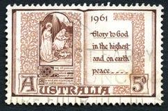 Штемпель почтового сбора австралийца рождества 1961 Стоковые Изображения RF