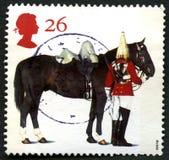 Штемпель почтового сбора Великобритании лошади ферзей Стоковое фото RF